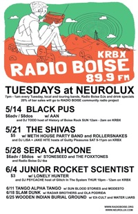 RADIO BOISE TUESDAYS may