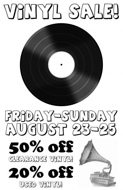 vinyl sale poster