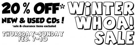 winter whoa sale cd